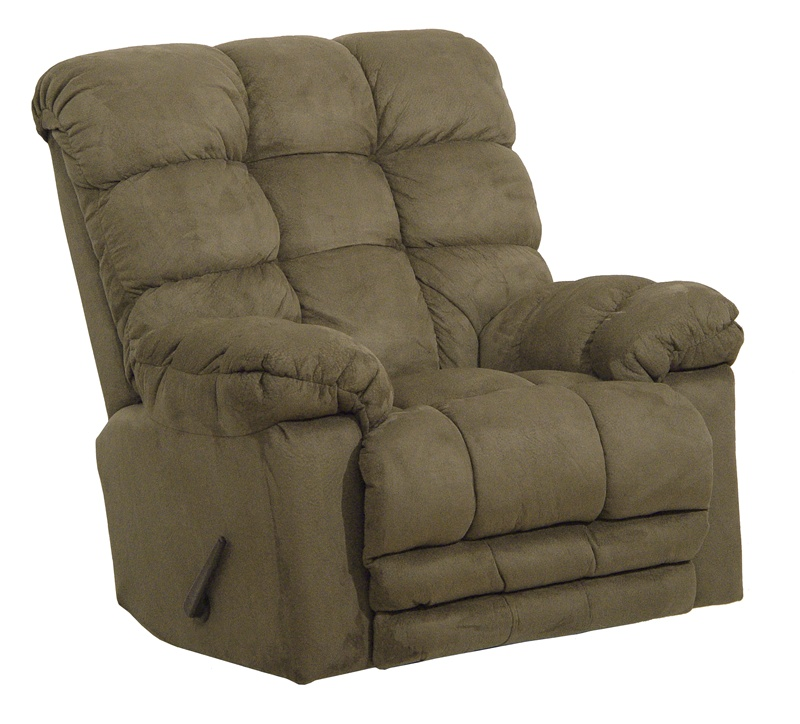 Magnum heat massage chaise rocker recliner in sage fabric for Catnapper magnum chaise recliner