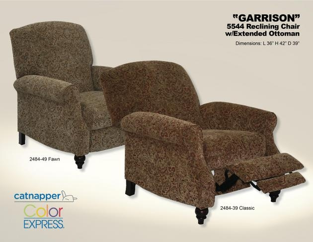 Garrison Reclining Chair in Fawn Tapestry Chenille by Catnapper - 5544-F & Garrison Reclining Chair in Fawn Tapestry Chenille by Catnapper ... islam-shia.org