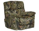 Duck Dynasty Chimney Rock Lay Flat Recliner in Mossy Oak New Break-Up Camouflage Fabric by Catnapper - 5803-7-B