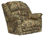 Duck Dynasty Yosemite Chaise Rocker Recliner with Heat and Massage in Realtree MAX 4 Camouflage Fabric by Catnapper - 5804-2