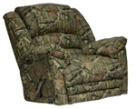 Duck Dynasty Yosemite Chaise Rocker Recliner with Heat and Massage in Mossy Oak Infinity Camouflage Fabric by Catnapper - 5804-2-I