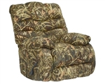 Duck Dynasty Flat Rock Chaise Rocker Recliner in Realtree MAX4 Camouflage Fabric by Catnapper - 5806-2
