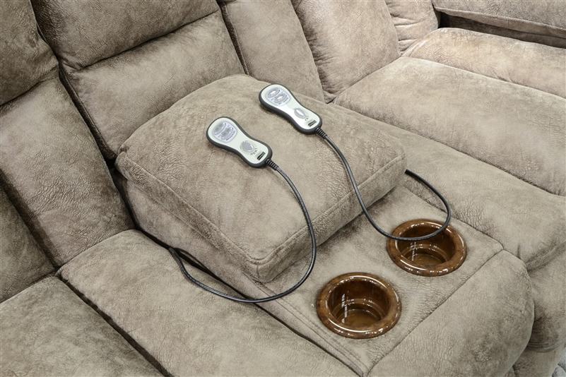 Madden Power Reclining Console Loveseat With Heat And