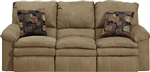 Impulse POWER Reclining Sofa in Cafe Color Fabric by Catnapper - 61241