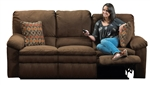 Impulse POWER Reclining Sofa in Chocolate Color Fabric by Catnapper - 61241-G