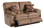 Impulse POWER Reclining Love Seat in Cafe Color Fabric by Catnapper - 61242