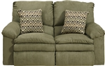 Impulse POWER Reclining Love Seat in Moss Color Fabric by Catnapper - 61242-M