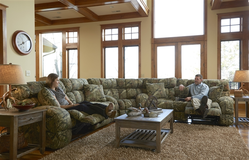 List Price   3 899 00Appalachian 3 Piece POWER Reclining Sectional in Mossy Oak or  . Realtree Camo Living Room Furniture. Home Design Ideas