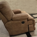 Noble POWER Lay Flat Recliner in Almond Fabric by Catnapper - 61360-7-A