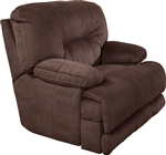 Noble POWER Lay Flat Recliner in Espresso Fabric by Catnapper - 61360-7-E
