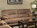 Noble POWER Lay Flat Reclining Sofa in Almond Fabric by Catnapper - 61361-A