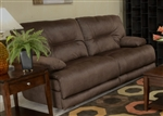 Noble POWER Lay Flat Reclining Sofa in Espresso Fabric by Catnapper - 61361-E