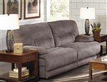 Noble POWER Lay Flat Reclining Sofa in Slate Fabric by Catnapper - 61361-S