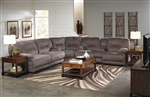 Noble 3 Piece POWER Lay Flat Reclining Sectional in Slate Fabric by Catnapper - 61361-S-SEC