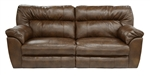 Larkin Power Lay Flat Reclining Sofa in Buff or Coffee Color Upholstery by Catnapper - 61391