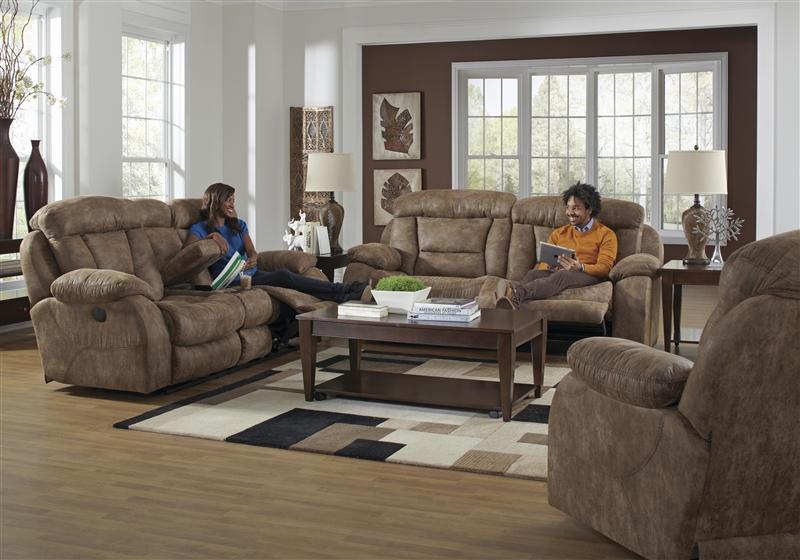 Desmond Power Lay Flat Reclining Sofa In Mushroom Marble
