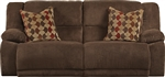 Hammond POWER Reclining Sofa in Mocha, Coffee, or Granite Fabric by Catnapper - 61441