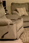 "Gavin POWER Glider Recliner in ""Taupe"" Color Fabric by Catnapper - 61450-6-T"