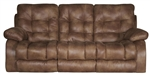 Watson POWER Reclining Sofa in Coal, Almond, or Burgundy Fabric by Catnapper - 61521