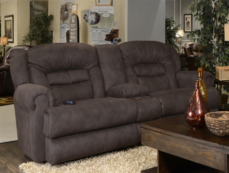 Atlas Extra Tall Power Reclining Console Loveseat In Sable
