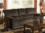 Escalade POWER Reclining Sofa in Chocolate/Walnut Two Tone Fabric by Catnapper - 61711