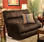 "Siesta POWER Lay Flat Recliner in ""Chocolate"" Color Fabric by Catnapper - 61760-7"