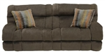 "Siesta POWER Lay Flat Reclining Sofa in ""Chocolate"" Color Fabric by Catnapper - 61761"