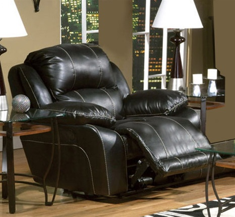 & Torino Black Leather Power Glider Recliner by Catnapper - 6360-6 islam-shia.org