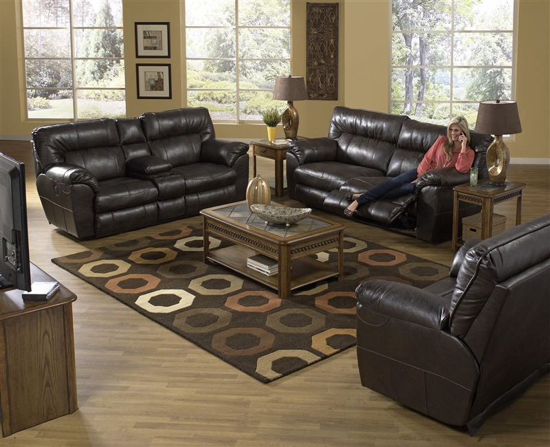 Nolan 2 Piece Leather Power Reclining Sofa Set By