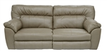Carmine POWER Lay Flat Reclining Sofa in Timber, Pebble or Smoke Leather by Catnapper - 64151