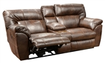 Carmine POWER Lay Flat Reclining Console Loveseat in Timber, Pebble or Smoke Leather by Catnapper - 64159