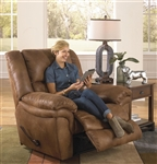 Joyner POWER Lay Flat Recliner in Almond, Marble or Slate Fabric by Catnapper - 64250-7