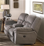 Joyner POWER Lay Flat Reclining Console Loveseat Almond, Marble or Slate Fabric by Catnapper - 64259