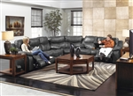 Catalina 3 Piece POWER Leather Reclining Sectional by Catnapper - 6431-3