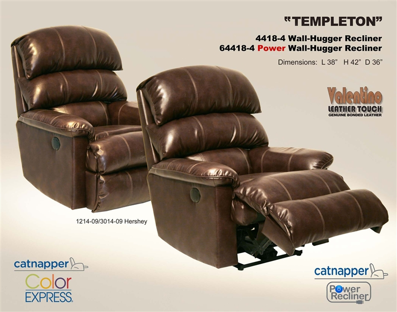 Templeton Power Quot Inch Away Quot Wall Hugger Recliner In