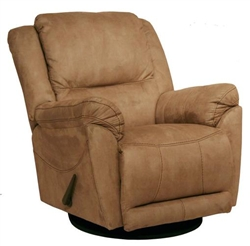 Maverick power chaise glider recliner in stone microfiber for Catnapper maverick chaise swivel glider recliner