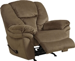 Drew POWER Lay Flat Recliner in Fawn Fabric by Catnapper - 64613-7-F