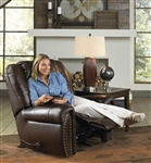Jordan POWER Lay Flat Recliner in Tobacco Leather by Catnapper - 64660-7
