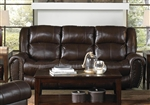 Jordan Lay Flat POWER Reclining Sofa in Tobacco Leather by Catnapper - 64661