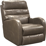 Searcy POWER Wall Hugger Recliner in Ash Leather Like Fabric by Catnapper - 64747-4-A