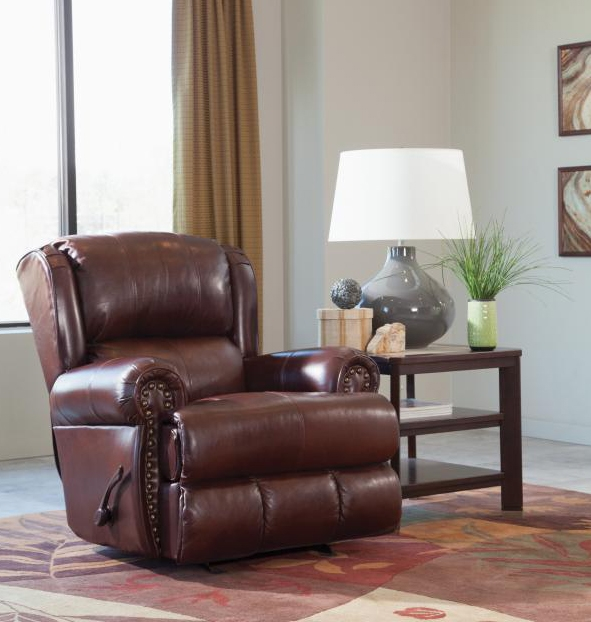 Italian Leather Sofa By Cake: Duncan Power Deluxe Lay Flat Recliner In Walnut Leather By