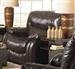 Arlington POWER Glider Recliner in Mahogany Leather by Catnapper - 64770-6