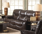 Arlington POWER Reclining Sofa in Mahogany Leather by Catnapper - 64771