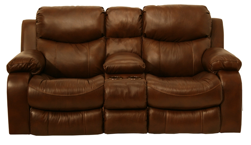 Dallas POWER Reclining Console Loveseat in Tobacco Leather by Catnapper - 64959  sc 1 st  Home Cinema Center & Dallas POWER Reclining Console Loveseat in Tobacco Leather by ... islam-shia.org