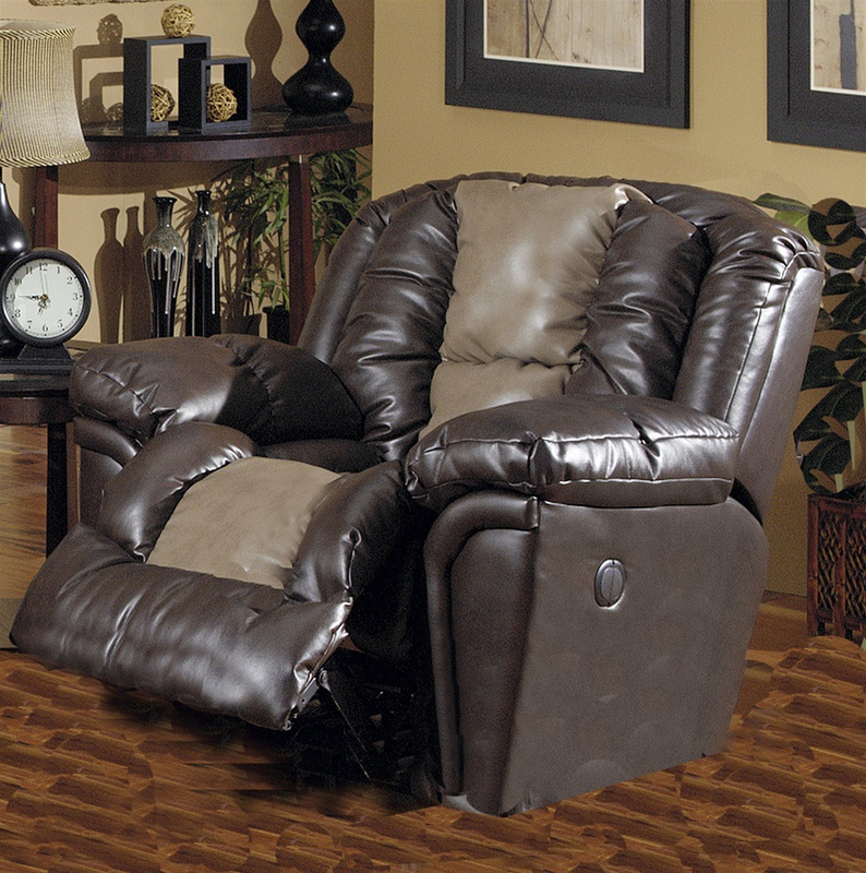 Jaguar power chaise recliner in valentino two tone leather for Chaise valentino
