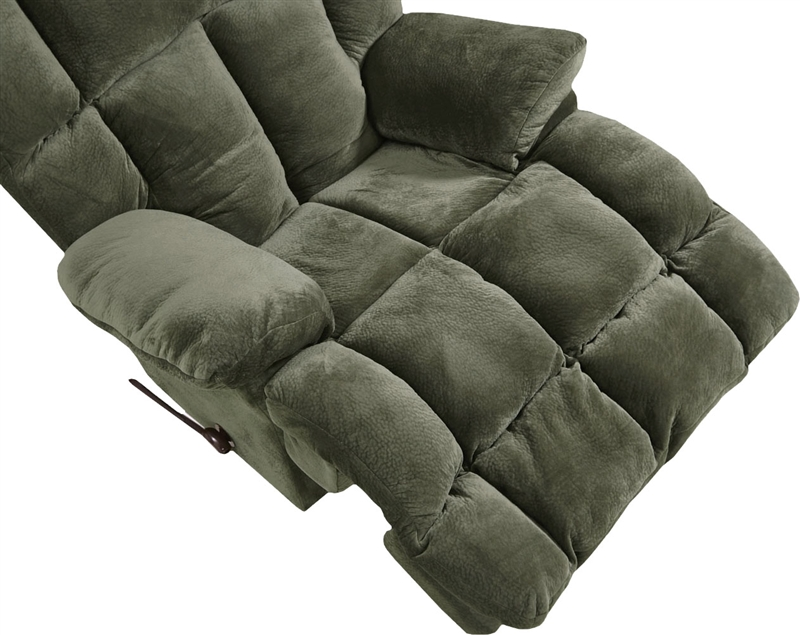 Cloud 12 chaise rocker recliner in chocolate microfiber by for Catnapper cloud 12 power chaise recliner