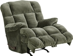 Cloud 12 Chaise Rocker Recliner in Sage Microfiber by Catnapper - 6541-2-S