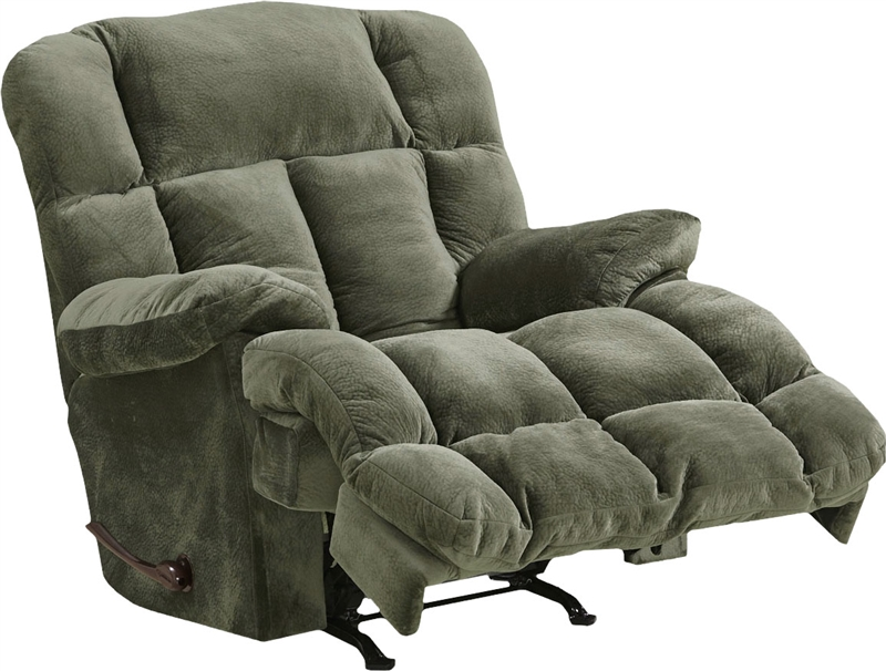 Cloud 12 chaise rocker recliner in sage microfiber by for Catnapper cloud nine chaise recliner
