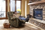 Duck Dynasty Chimney Rock POWER Lay Flat Recliner in Mossy Oak Infinity Camouflage Fabric by Catnapper - 65803-7-I