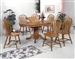 Farmhouse 5 Piece Dining Set in Oak Finish by Crown Mark - 1052D